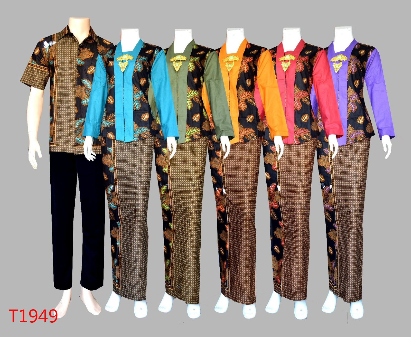 Jual Dress Batik Couple Murah Baju Gamis Batik Couple