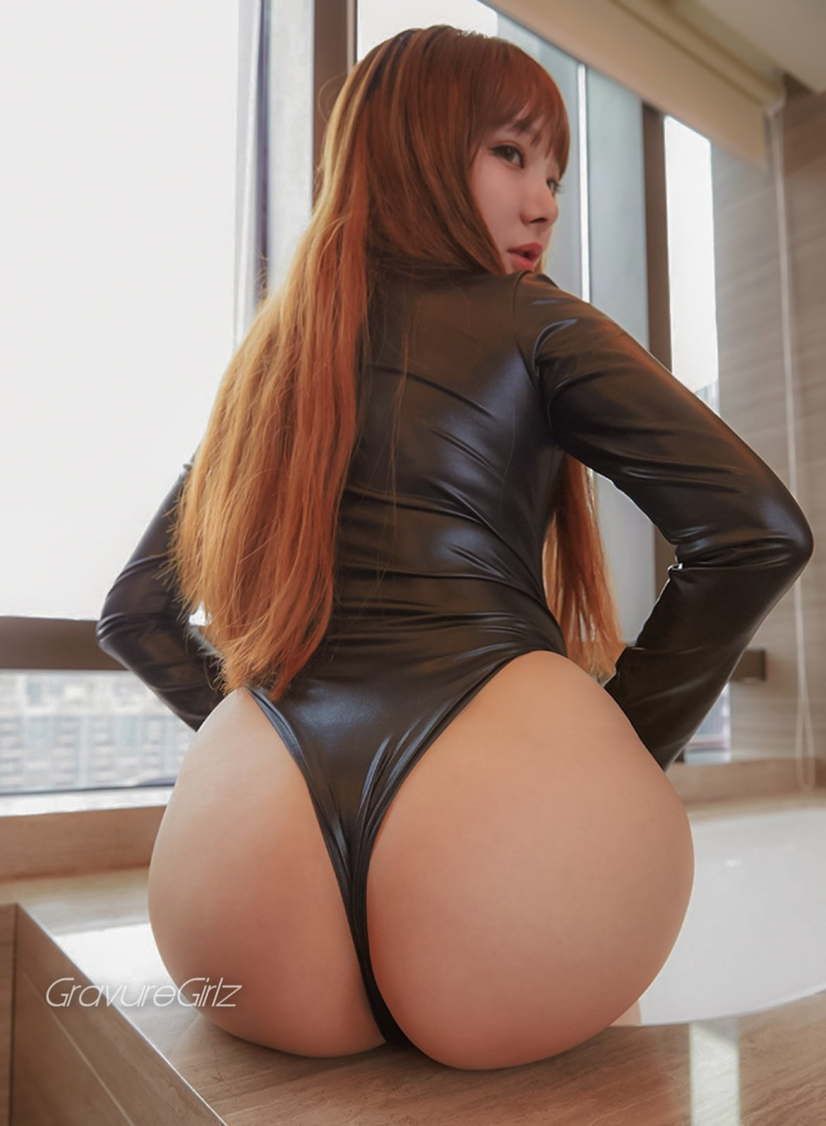 Ai yumemi on her knees in white stockings 1