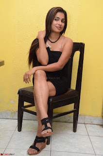 Vrushali Gosavi in strapless Short Black Dress At Follow Follow U Audio Launch 005.JPG