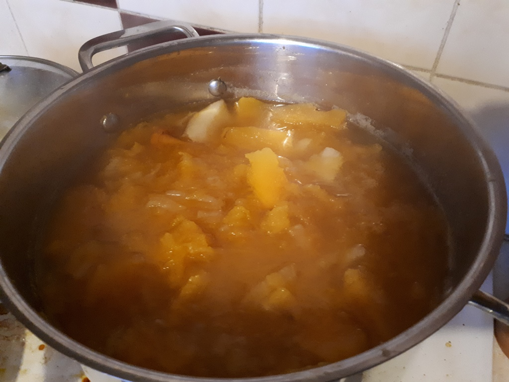 The Other Night I Made A Huge Batch Of Squash Soup For Tea. Some Of My  Squash Have Just Started To Go Bad So It Was Time To Use Them Up.