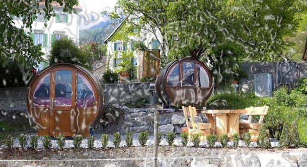 Enjoy sleeping in a barrel of wine in the Schlaf Fass hotel which is encircled by vineyards. There will be living room barrel and sleeping barrel in your room. A small bathroom is in the barrel and is positioned near the restaurant. It is surely the best way to discover popular wine region.