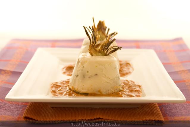 pastel de alcachofas