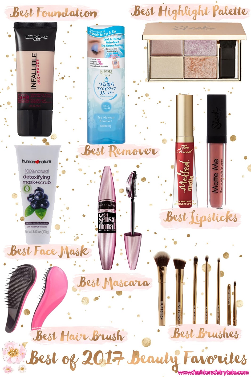Best of 2017 Beauty Favorites