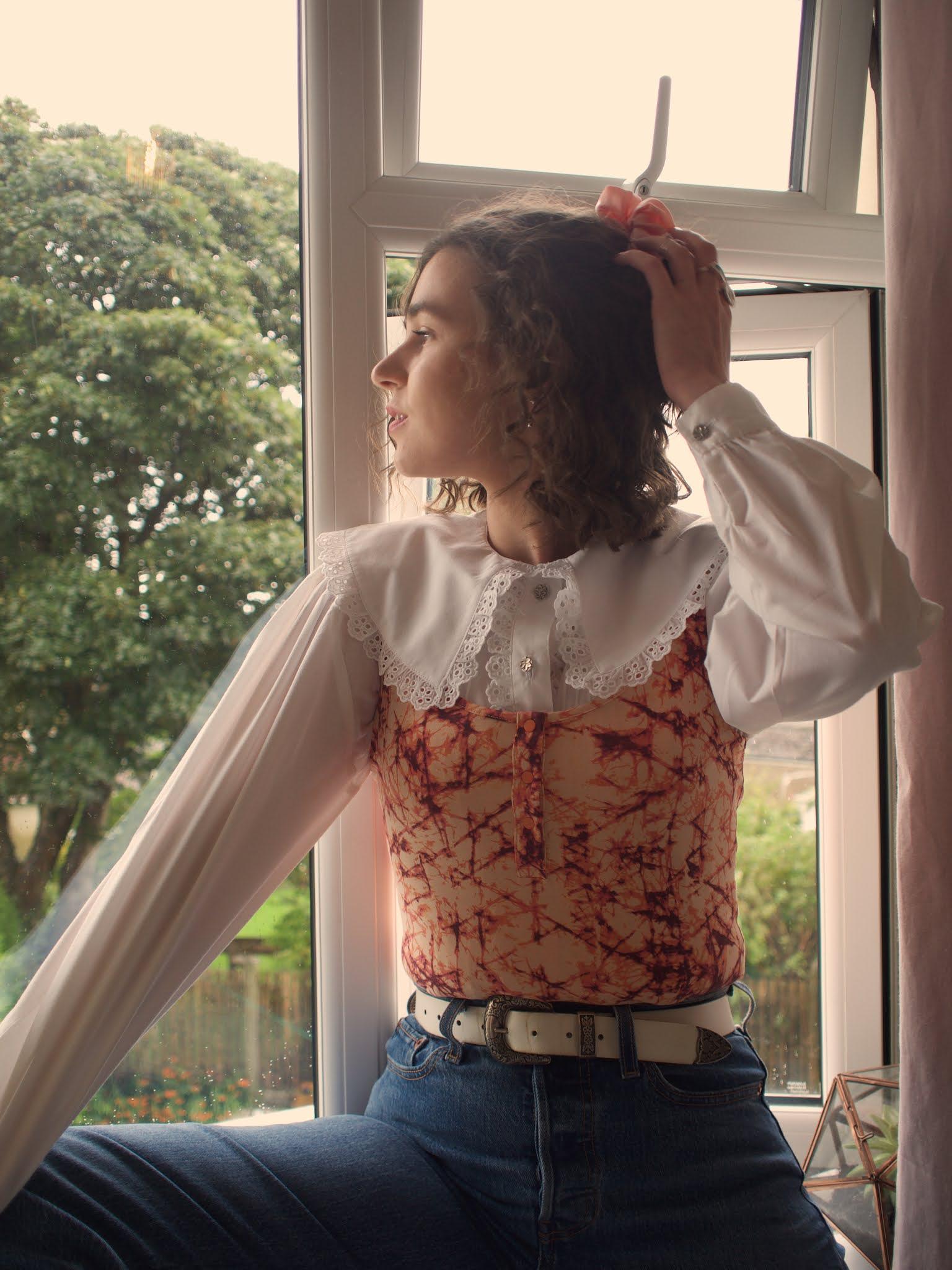 vintage bib collar blouse