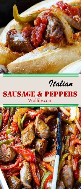 Italian Sausage And Peppers Recipes #Sausage