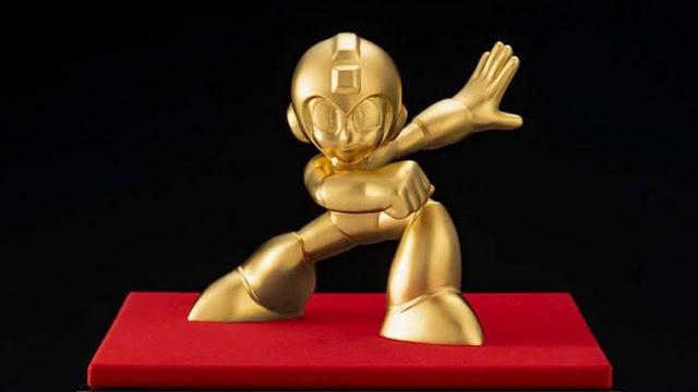 Mega Man feito em ouro