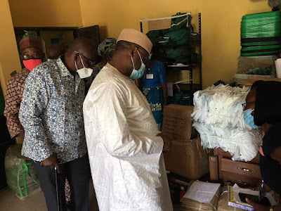 PHOTOS: INEC chairman inspects voting materials ahead of election #OndoDecide2020