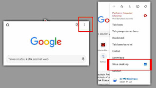 cara mode desktop di chrome