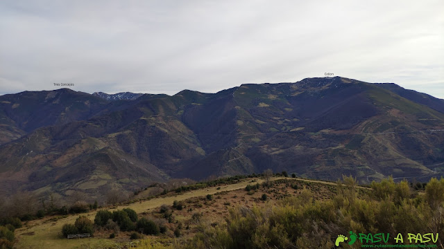 Vista hacia el Cellón desde el Curuchu Braña