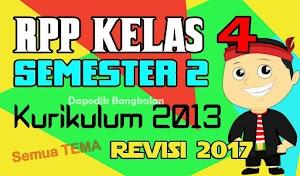 RPP Kelas 4 Semester 2 Kurikulum 2013 Revisi 2017