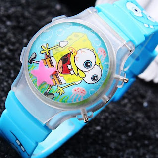 Jam Tangan Anak Karakter Kartun Sponge Bob