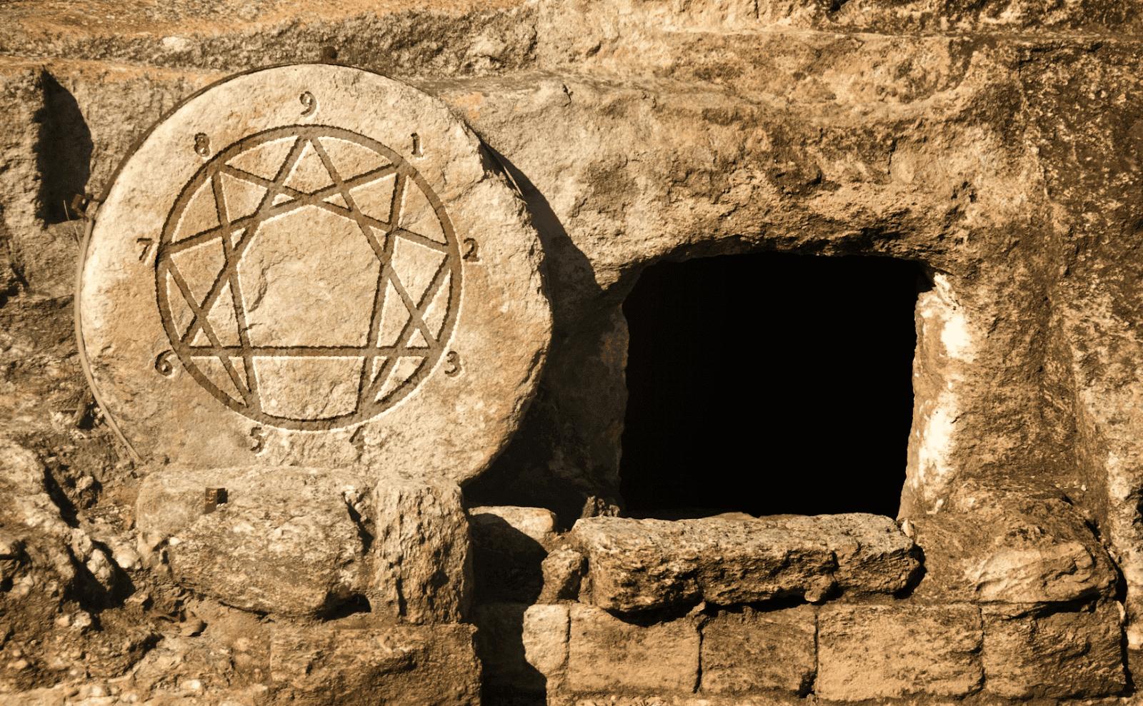 Enneagram Grave,  Sacred Geometry