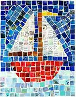 collage para niños - estilo mosaico