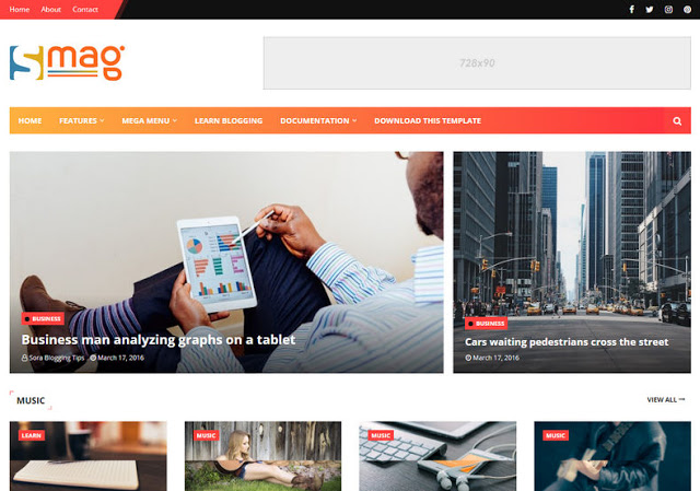 Download Smag Tech Blogger Template