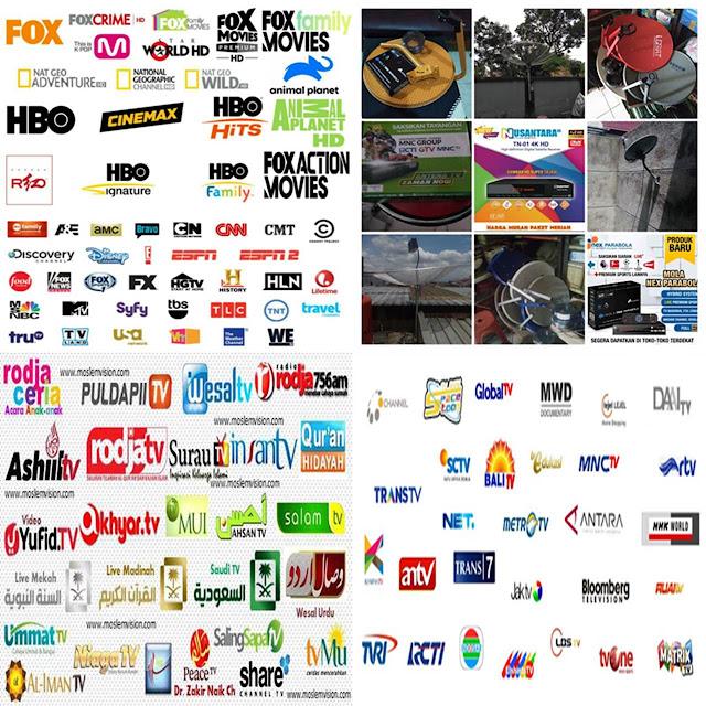 daftar channel parabola tv gratisan dan voucher berbayar