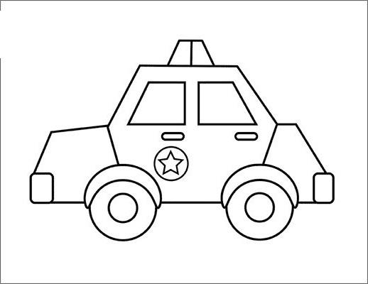 Tranh tô màu xe ô tô cảnh sát 06