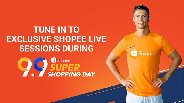 Cristiano Ronaldo on Shopee LIVE