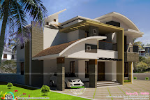 Curved House Designs with Roofs