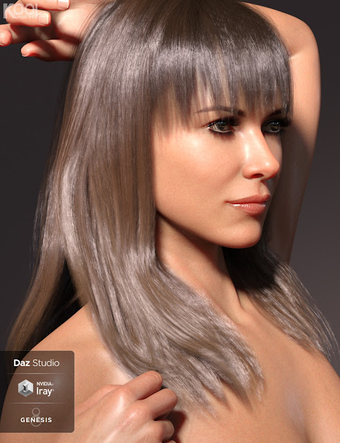 Alva Hair for Genesis 8 Female