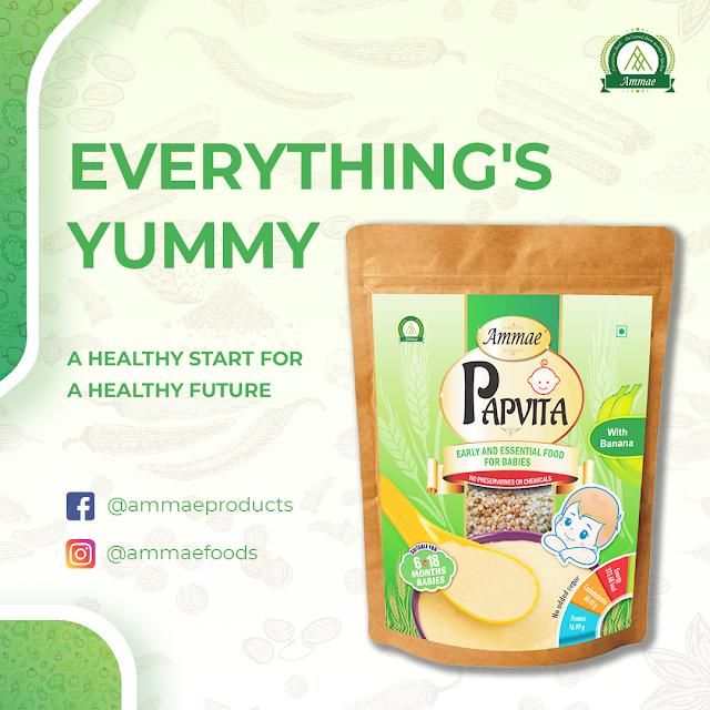 Ammae Papvita with Banana | Porridge for Babies - Ammae Foods India