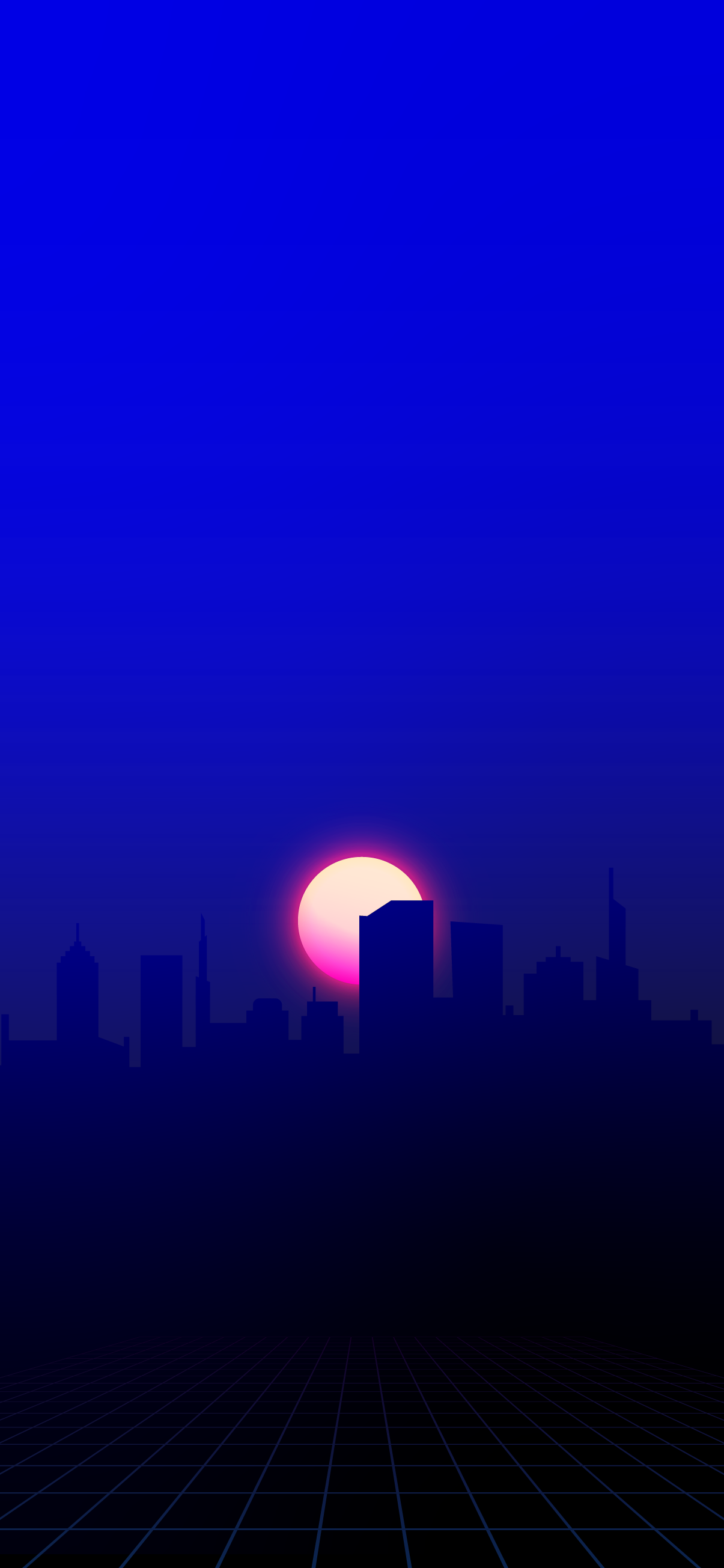 CITY SILHOUETTE WITH SUN SUNSET CYBERPUNK FUTURISTIC CITY RETROWAVE RETRO SYNTH SYNTHWAVE SYNTH-WAVE