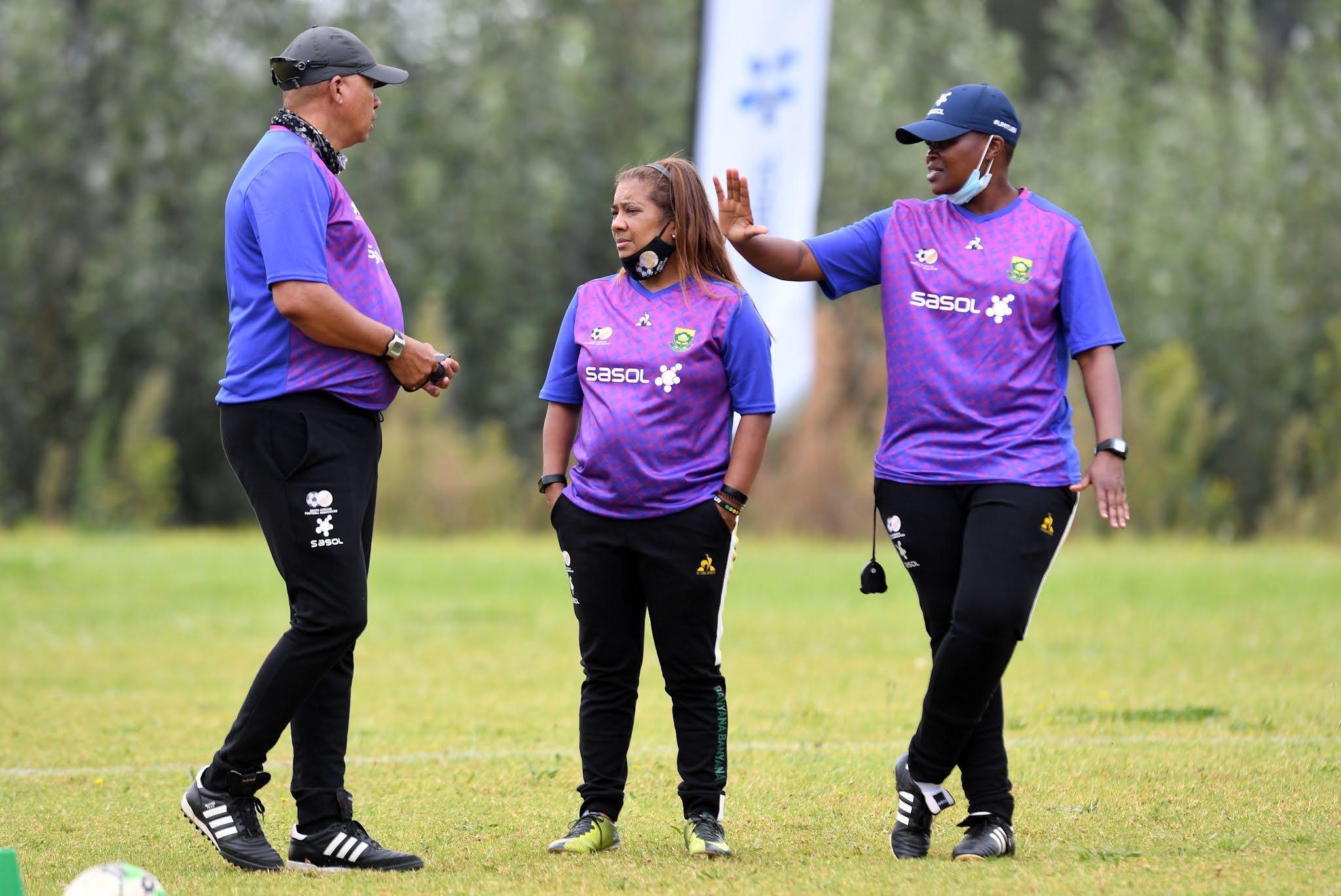 Banyana Banyana coaches Desiree Ellis and Thinasonke Mbuli
