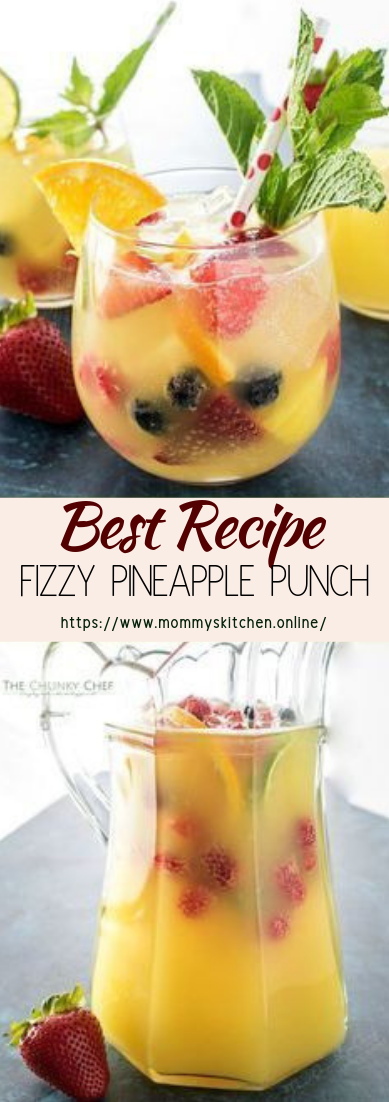 FIZZY PINEAPPLE PUNCH #healthydrink #easyrecipe #cocktail #smoothie
