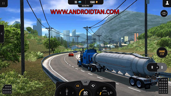 Free Download Truck Simulator PRO 2 Mod Apk + Data Premium v1.5.8 (Unlimited Money) Android Terbaru Latest Version 2017