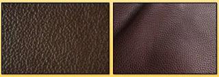 corrected grain leather