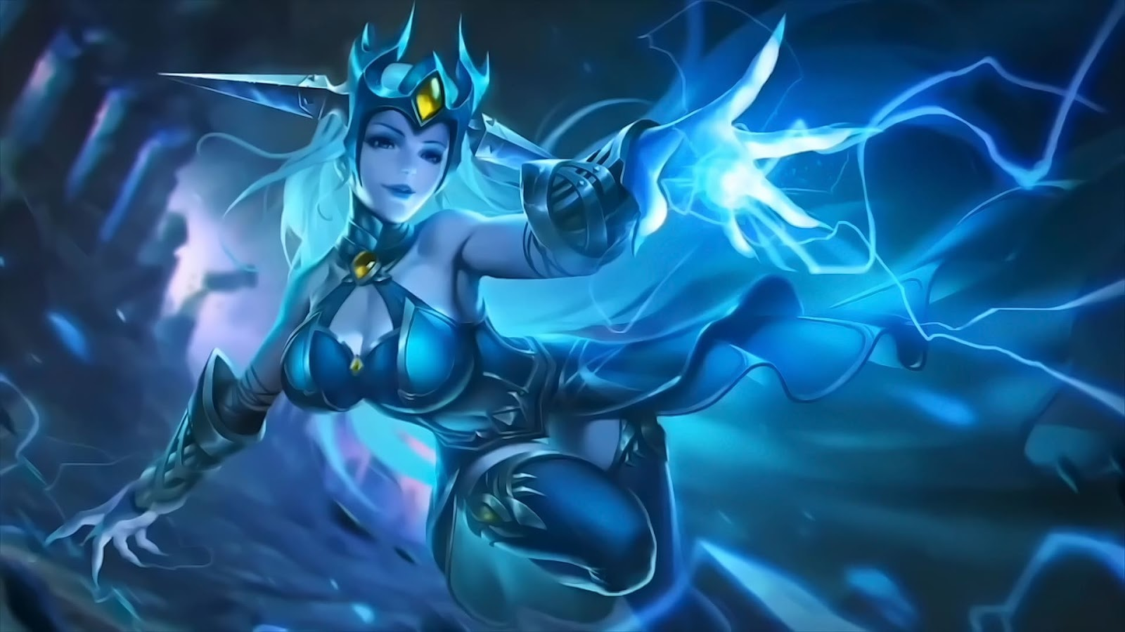 Wallpaper Eudora Lightning Sorceress Old Skins Mobile Legends HD for PC