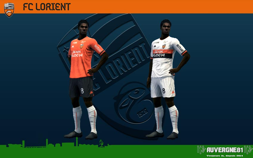 Kits FC Lorient 2021-2022 For PES 2013