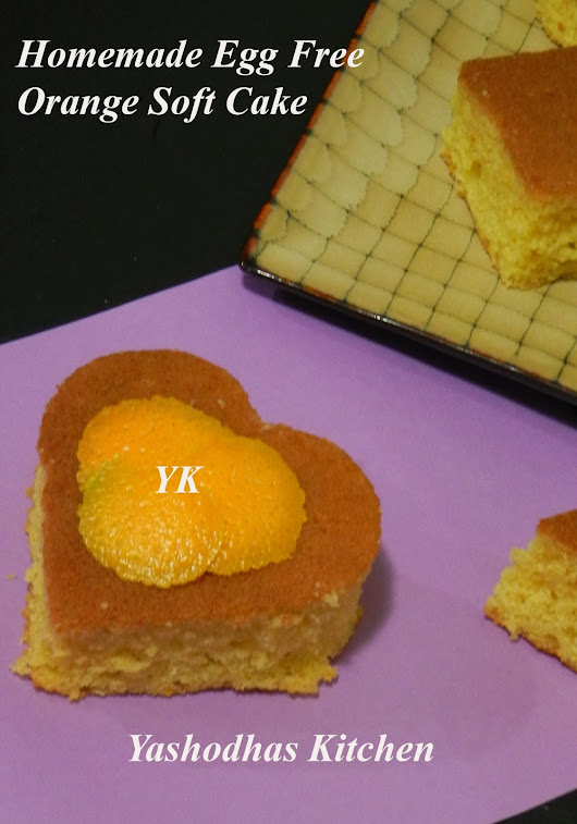 HOMEMADE EGG FREE SOFT SPONGY ORANGE CAKE