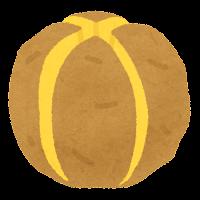 じゃがいもの切り方のイラスト(黄色・十字切り)