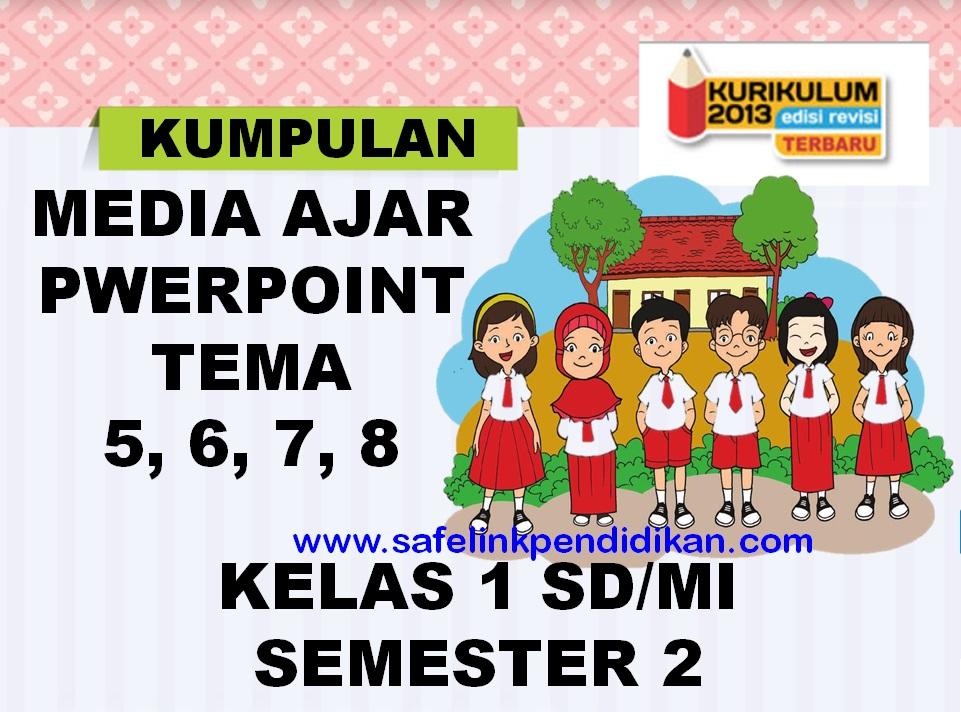 Media Ajar Powerpoint Tema 5 6 7 8 Kelas 1 SD/MI