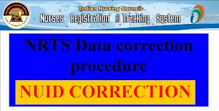 NRTS Data correction procedure