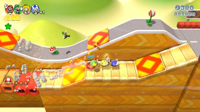 Four of them not only have the most fun in Super Mario 3D World, you also reach 100% much faster.