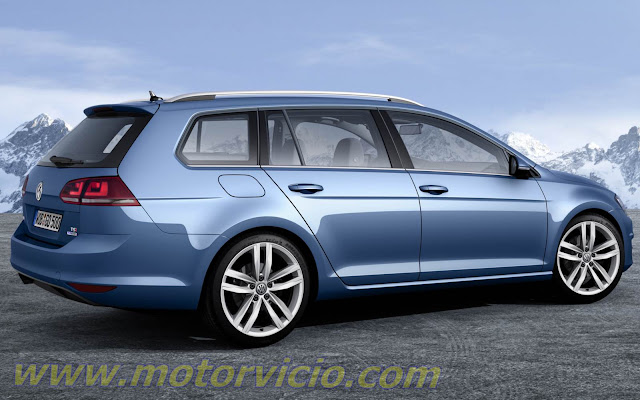 2014 new golf variant 7 - rear view