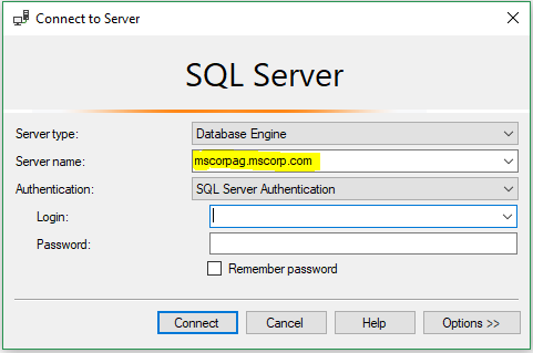 Connecting to availability group listener in SSMS