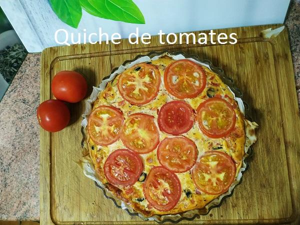 Quiché de tomates