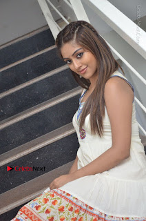Telugu Actress Anu Emmanuel New Stills in Beautiful White Long Dress  0059.JPG