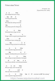 chord lagu putus atau terus judika