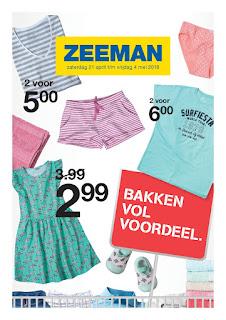 Zeeman folder 21 April – 4 Mei 2018