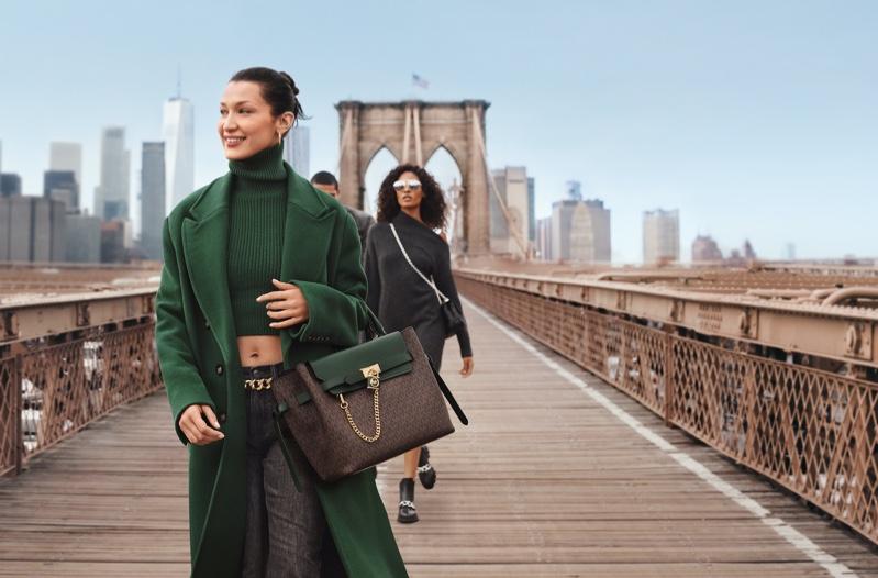 Bella Hadid stars in MICHAEL Michael Kors fall 2021 campaign.