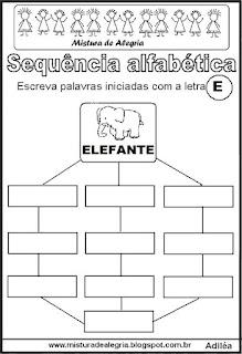 Sequência alfabética letra E