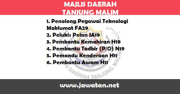 Jawatan Kosong di Majlis Daerah Tanjung Malim