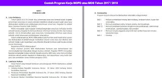 Contoh Program Kerja MOPD atau MOS Tahun 2017 2018