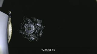 Pomyślne uwolnienie satelity Arabsat-6A z górnego, drugiego stopnia Falcona Heavy. Credit: SpaceX