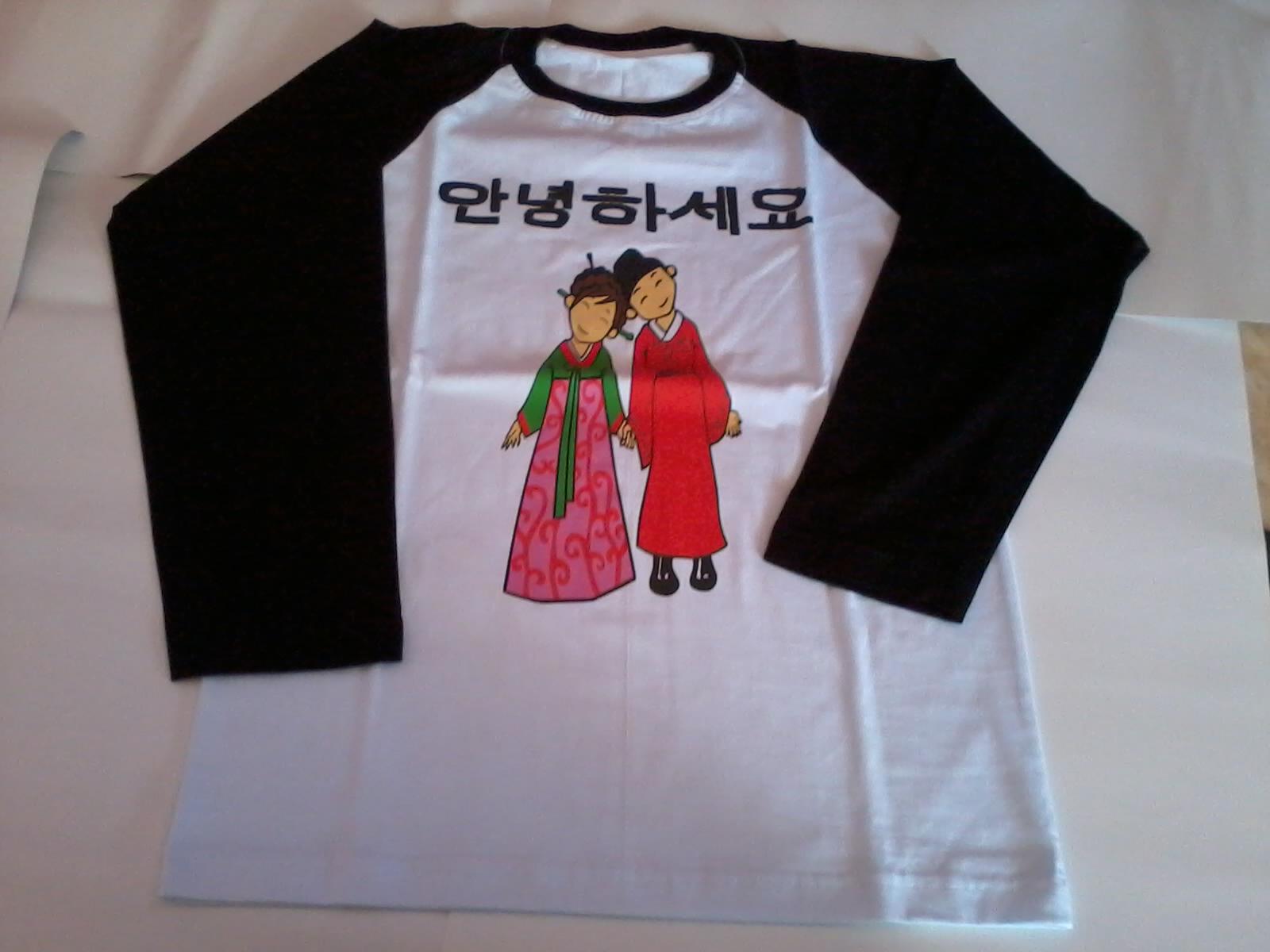 SARANGHAEYO: KAOS GAMBAR KARTUN KOREA
