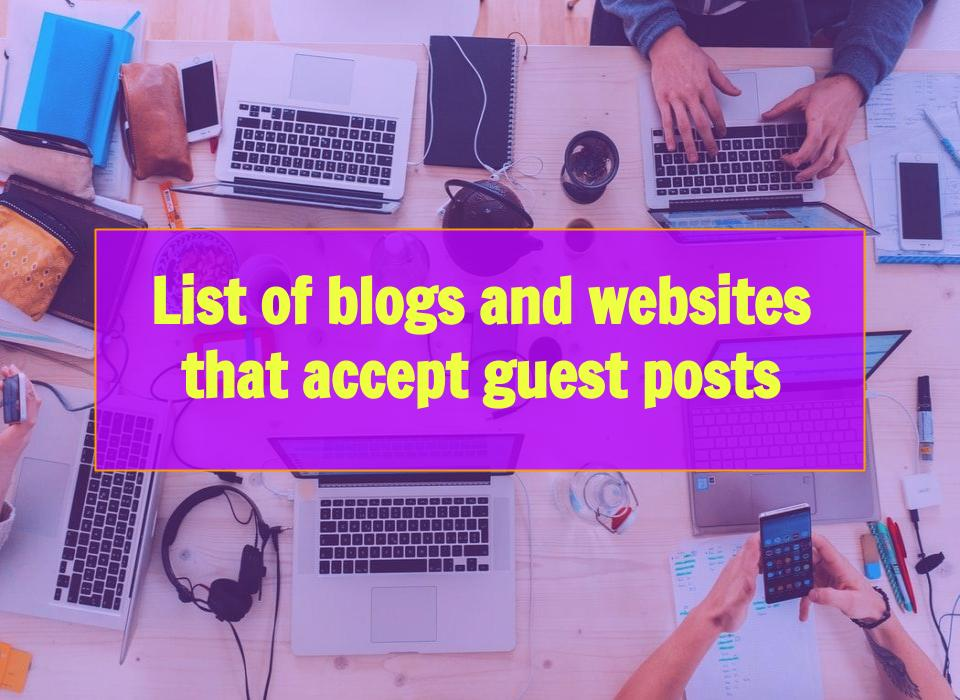 Websites that accept Guest Posts