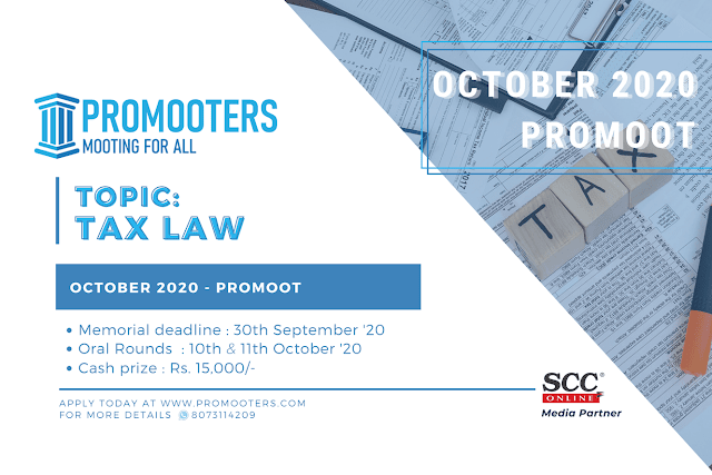 [Online] Moot Competition on Tax Law by Promooters [Submit Soon]